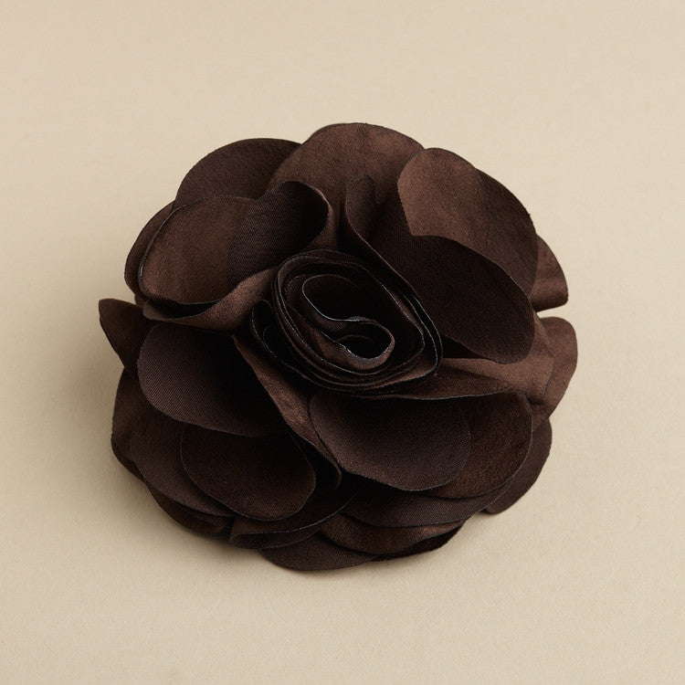 Brown silk flower hair clip or pin 3458h you are my everything brown silk flower hair clip or pin 3458h mightylinksfo