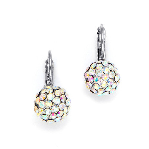 Iridescent AB Crystal Balls Drop Earrings 3490E-AB