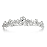 Delicate Wedding Tiara with Austrian Crystal Sprays 3575T