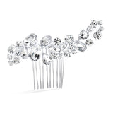 Bold Crystal Cluster Wedding or Pageant Comb 3582HC