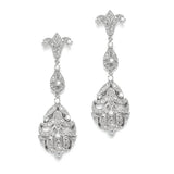 Opulent Vintage Cubic Zirconia Wedding Earrings 3628E