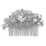 Austrian Crystal Bejeweled Butterfly and Bold Oval Bridal Comb 3878HC