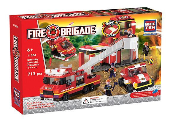 Brictek Fire Station With Sound 11304