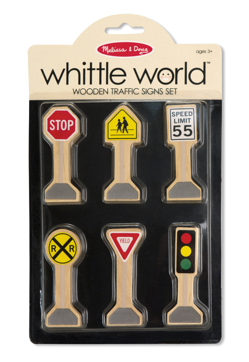 Melissa & Doug Wooden Traffic Signs Set 4048