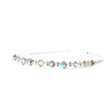 Graduated Iridescent AB Crystal & Clear Rhinestone Prom or Wedding Headband 4138hb