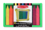 Melissa & Doug Jumbo Fluorescent Crayon Set (10 pc)