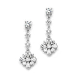 Cubic Zirconia Linear Wedding or Prom Earrings 4173E