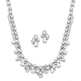 Breathtaking Cubic Zirconia Mosaic Bridal Necklace & Earrings Set 4174S