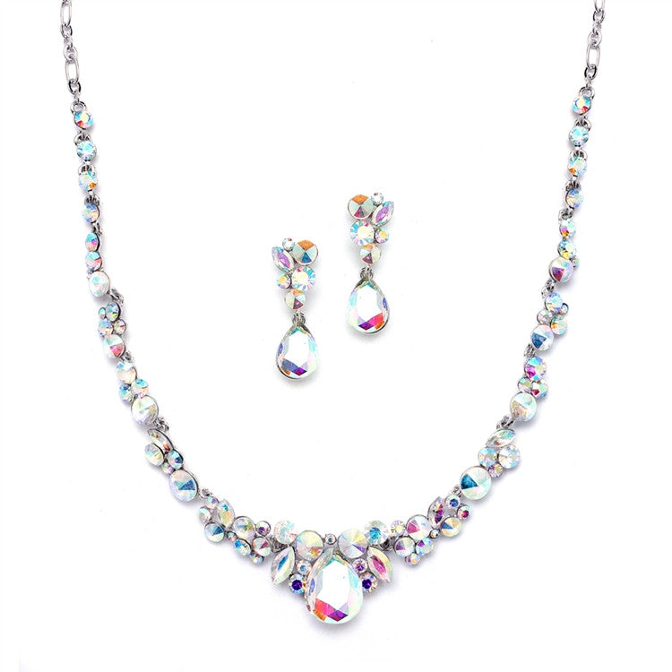 Regal Crystal Bridal or Prom Necklace & Earrings Set 4192S