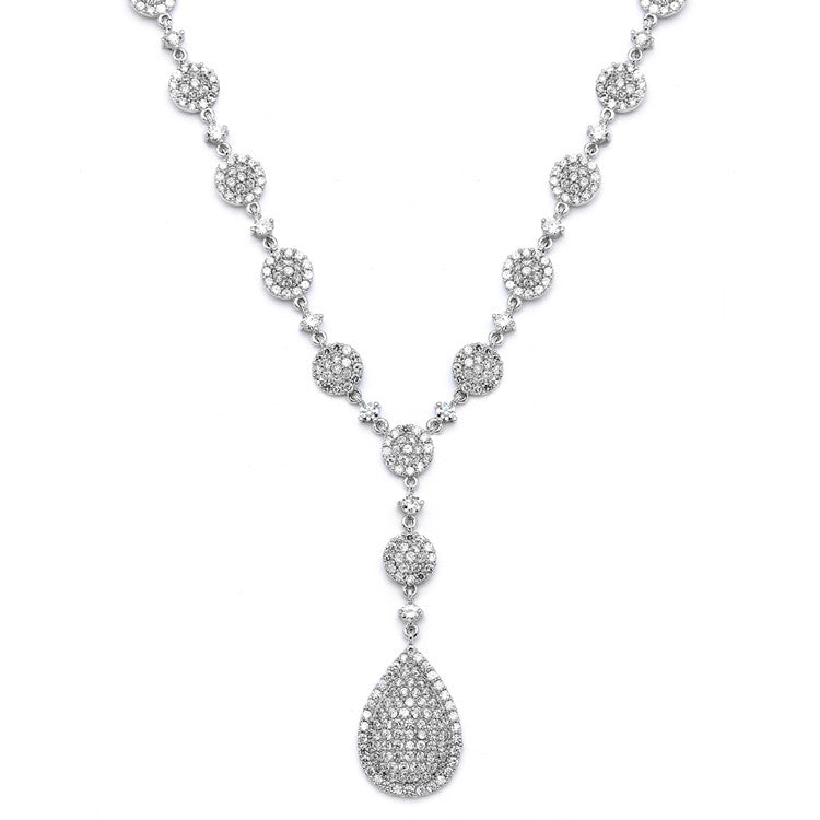Luxurious Pave CZ Wedding Necklace 4197N