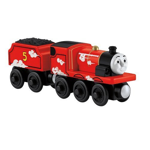 Fisher Price Thomas the Tank Engine wooden rail series Roll & Whistle James BDG14