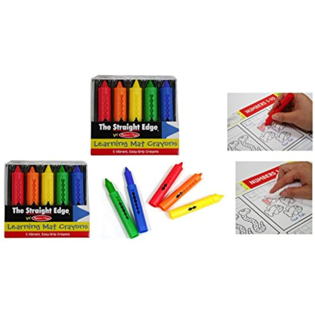 2 Packs Learning Mats Crayons 5 Color by Melissa and Doug