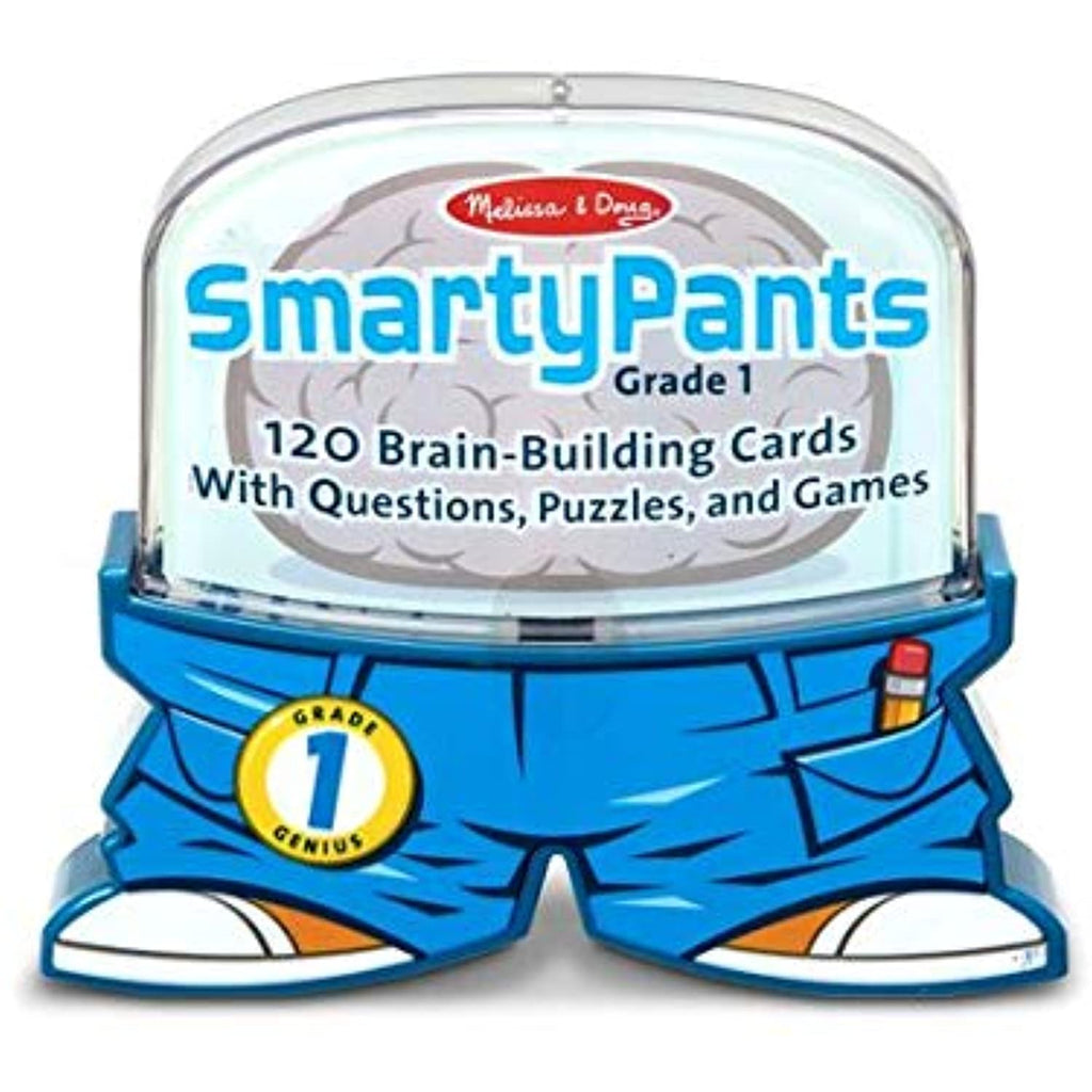 1st Grade Smarty Pants Card Game Set + FREE Melissa & Doug Scratch Art Mini-Pad Bundle [50722]