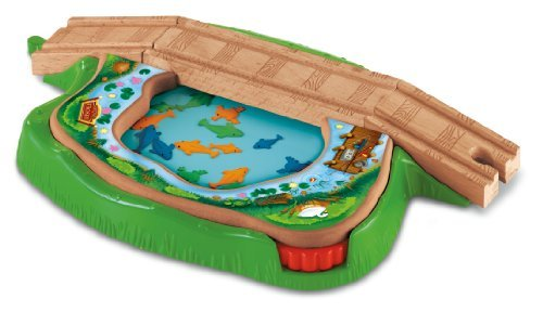Fisher Price Thomas the Tank Engine of the pond to swim wooden rail series fish bridge BDG56