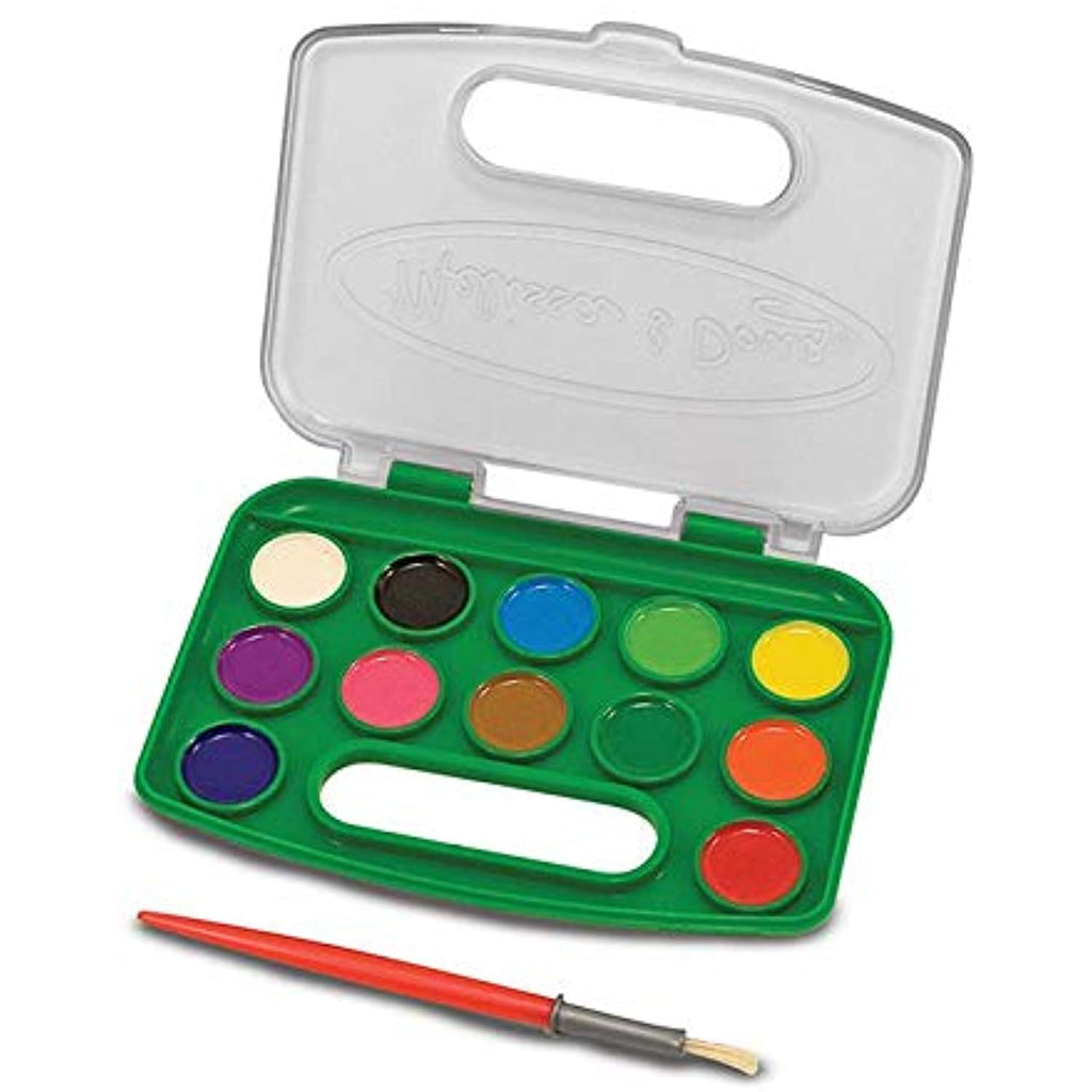 16 Pack MELISSA & DOUG TAKE ALONG WATERCOLOR PAINT SET