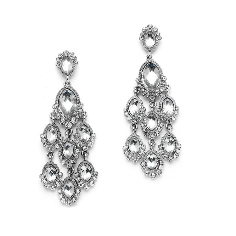 Dazzling Prom or Homecoming Chandelier Earrings 4255E