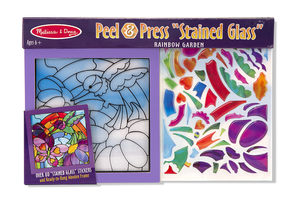 Melissa & Doug Rainbow Garden See-Through Window Art 4264