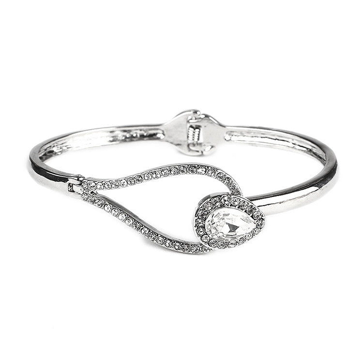 Interlocking Crystal Bracelet with Hinge 4329B-S