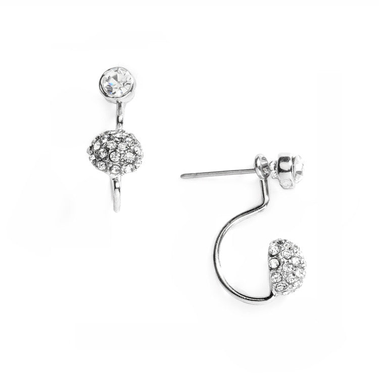 Sophisticated Pave Crystal Suspension Earrings 4351E-S