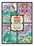 Melissa & Doug Stained Glass Coloring Pad - Fairies