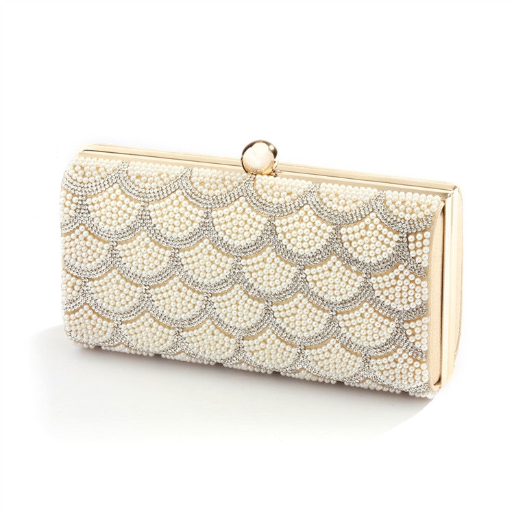Scalloped Crystal and Ivory Pearl Bridal Evening Bag or Wedding Clutch Scalloped Crystal and Ivory Pearl Bridal Evening Bag or Wedding ClutchScalloped Crystal and Ivory Pearl Bridal Evening Bag or Wedding Clutch 4391EB-I-G