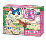 Melissa & Doug Butterfly Bliss Floor Puzzle (48 pc)