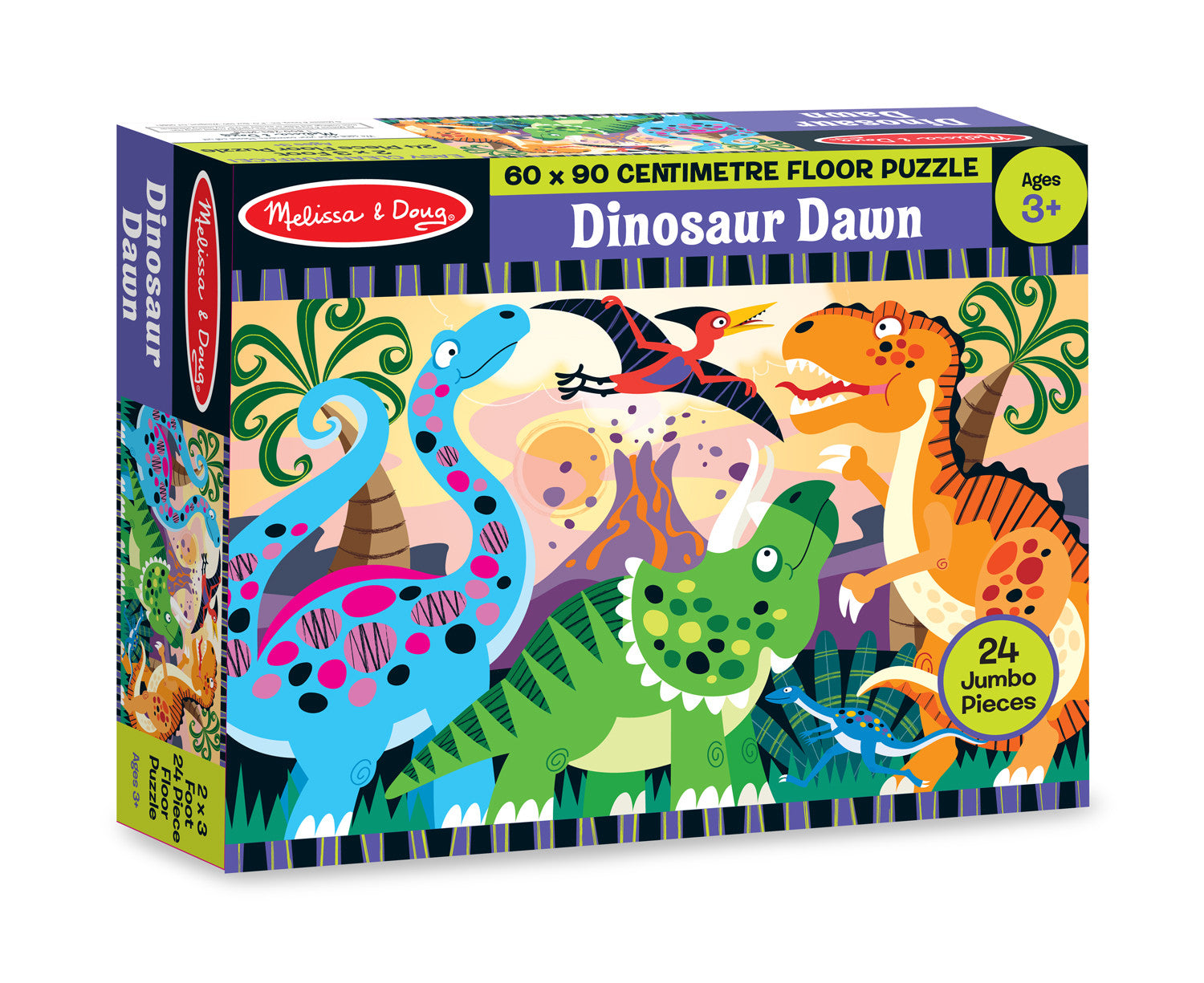 Melissa & Doug Dinosaur Dawn Floor Puzzle (24 pc)