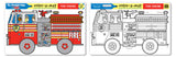 Melissa & Doug Fire Engine Color-A-Mat (Bundle) 5026