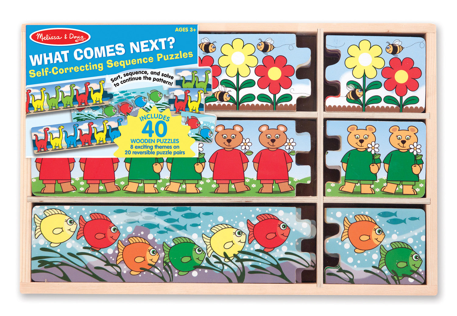 Melissa & Doug What Comes Next? Self-Correcting Sequence Puzzles 5152