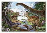 'Prehistoric Waterfall' 200-Piece Cardboard Jigsaw Puzzle + FREE Melissa & Doug Scratch Art Mini-Pad Bundle [89715]