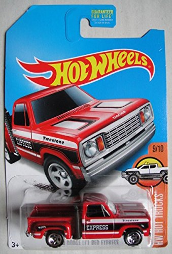 Mattel  HOT WHEELS HOT TRUCKS 9/10, RED 1978 DODGE LI'L RED EXPRESS FDY58