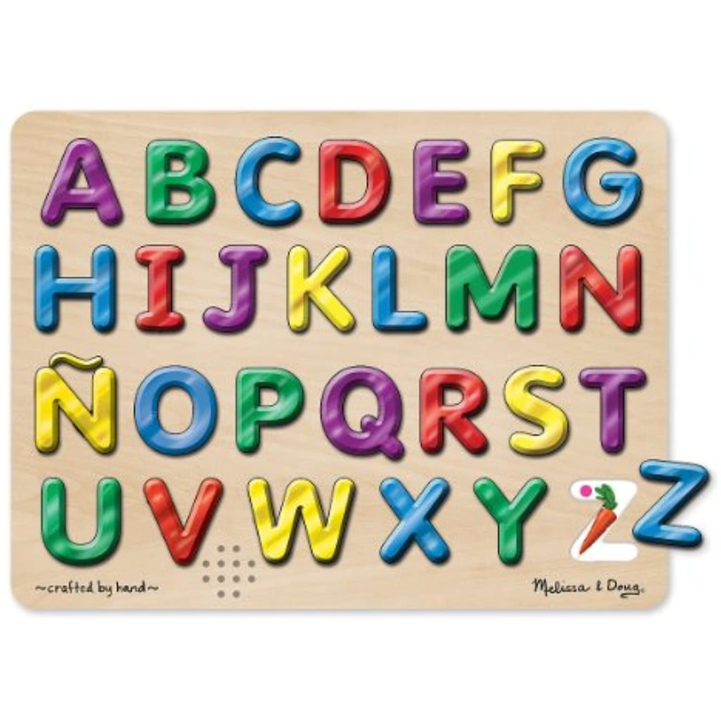 2 Item Bundle: Melissa & Doug 723 Spanish Alphabet Sound Puzzle + Free Activity Book