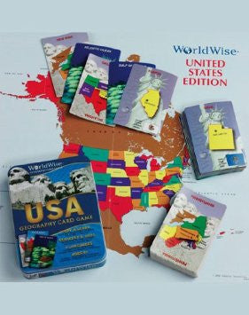 GeoToys Worldwise Usa Card Game