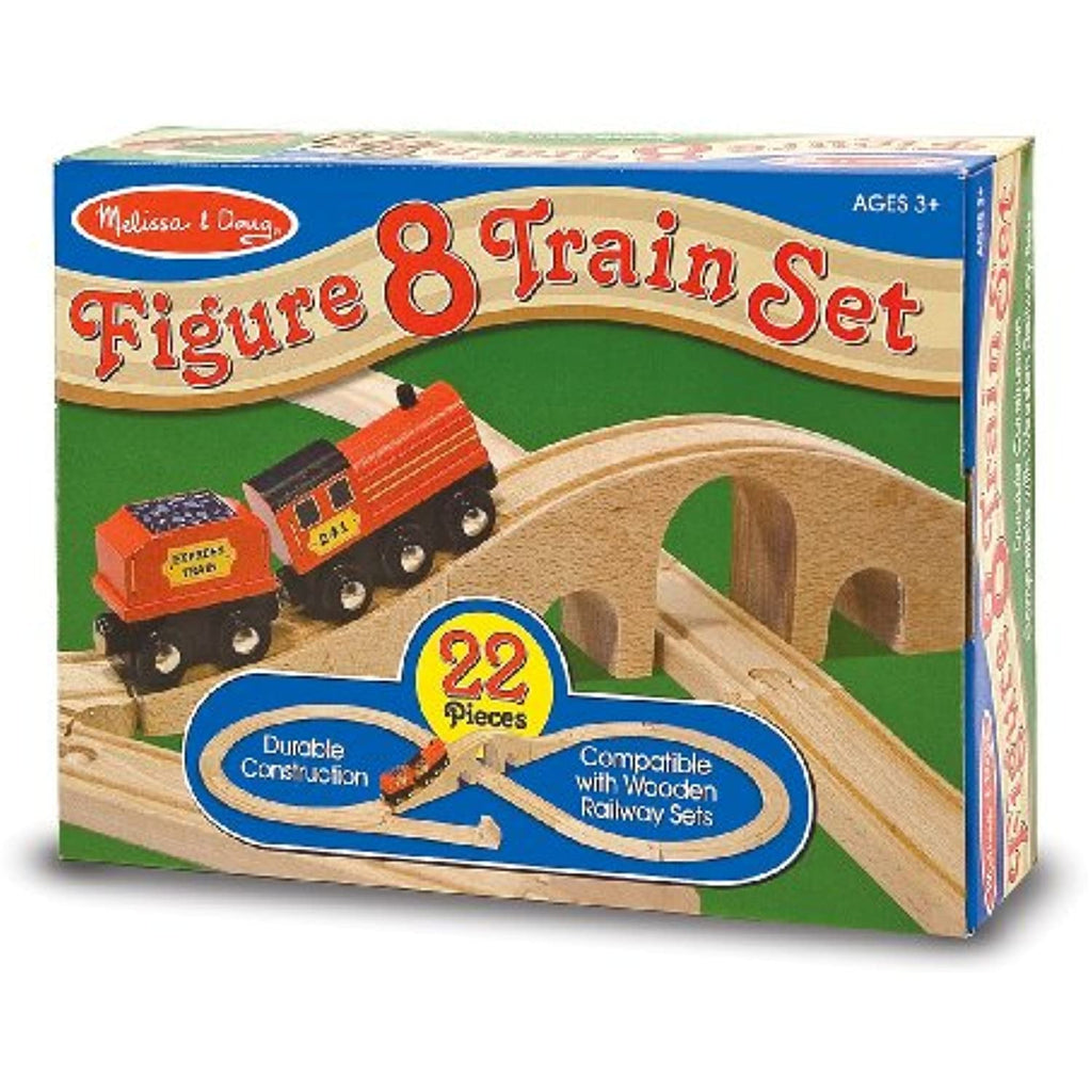2 Item Bundle: Melissa & Doug 703 Figure-8 Track Set + Free Gift - Fits Thomas Train Tracks