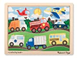 'On The Road' 12-Piece Wooden Jigsaw Puzzle + FREE Melissa & Doug Scratch Art Mini-Pad Bundle [90681]