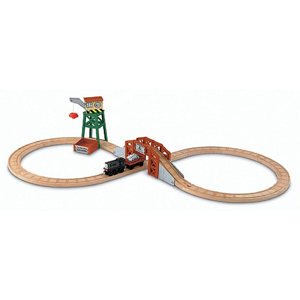 Fisher Price Thomas & Friends Wooden Railway Figure 8 Diesel Works Playset Y5194