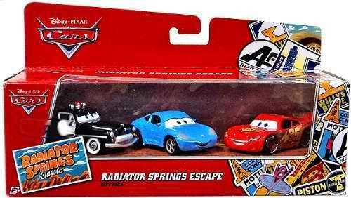 Mattel Pixar 1:55 Die Cast Car 3 Car Gift Pack Radiator Springs Sheriff Sally Lightning Mcqueen Y5108
