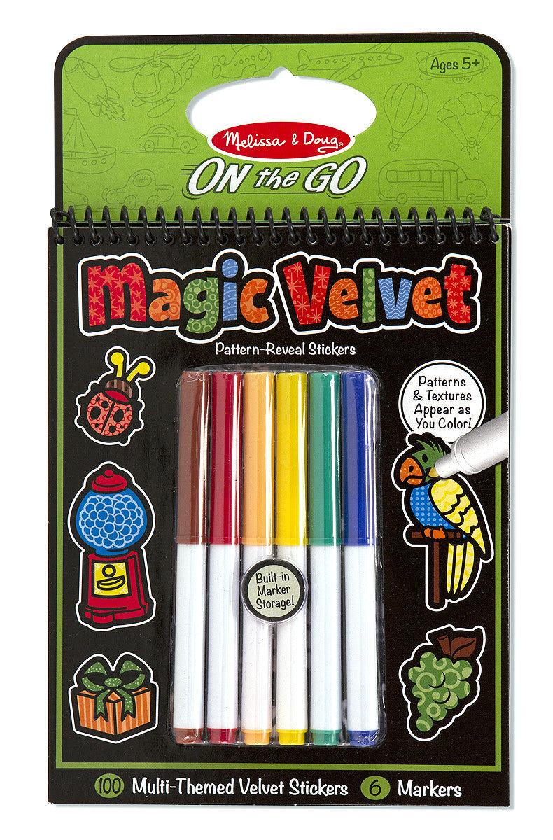 Melissa & Doug Magic Velvet Stickers - Multi