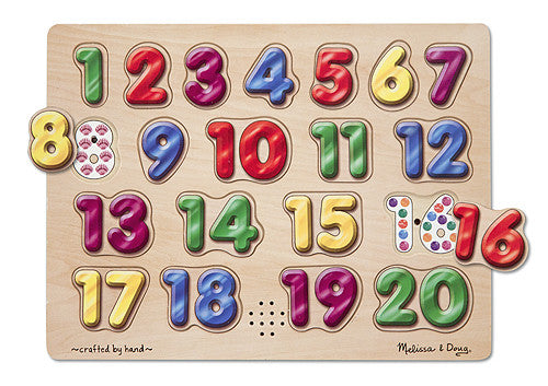 Melissa & Doug Spanish Numbers Sound Puzzle 724
