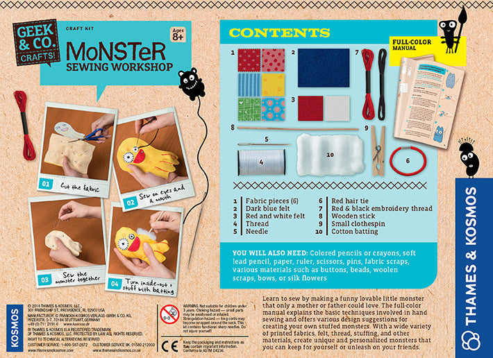 Thames kosmos monster sewing workshop 553008 you are my thames kosmos monster sewing workshop 553008 solutioingenieria Images