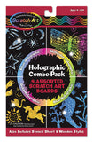 Melissa & Doug Holographic Scratch Art Combo Pack