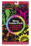 Melissa & Doug Neon Scratch Art Combo Pack