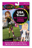 Melissa & Doug USA Travel Scratch Art Fashion Stickers