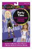 Melissa & Doug Party Time Scratch Art Fashion Stickers