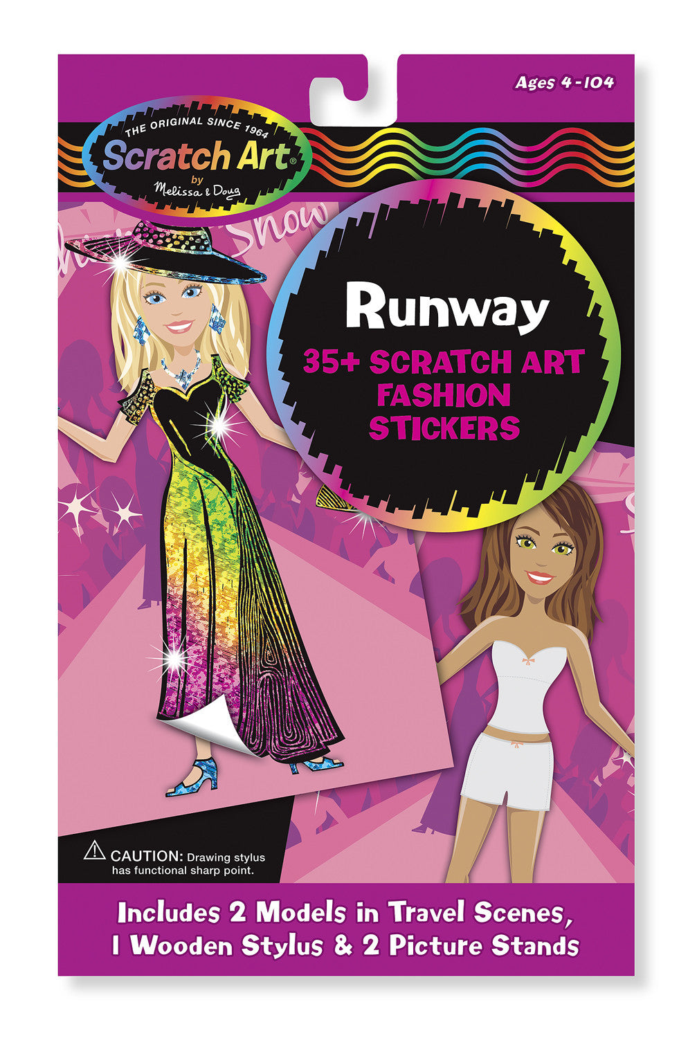 Melissa & Doug Runway Scratch Art Fashion Stickers 5871