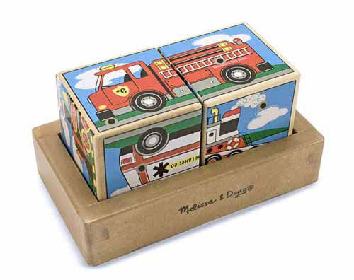 Melissa & Doug Vehicles Sound Blocks 1272