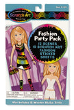 Melissa & Doug Fashion Scratch Art Party Pack