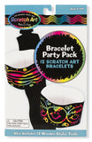 Melissa & Doug Bracelet Scratch Art Party Pack