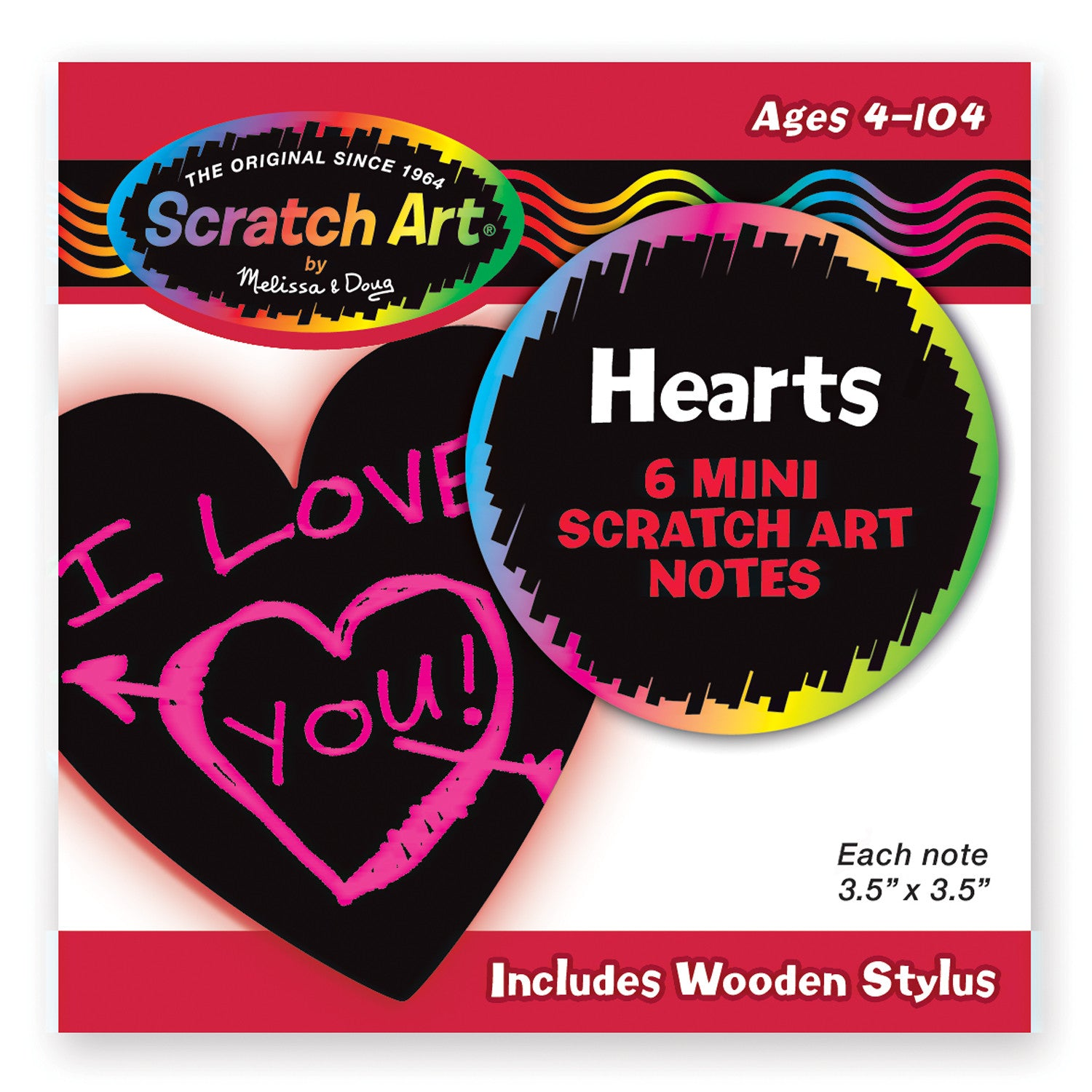 Melissa and Doug Heart-Shaped Mini Scratch Art Notes 5930