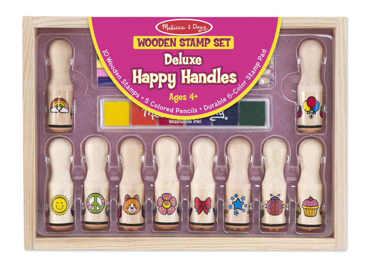 Melissa & Doug Deluxe Happy Handle Stamp Set 2306